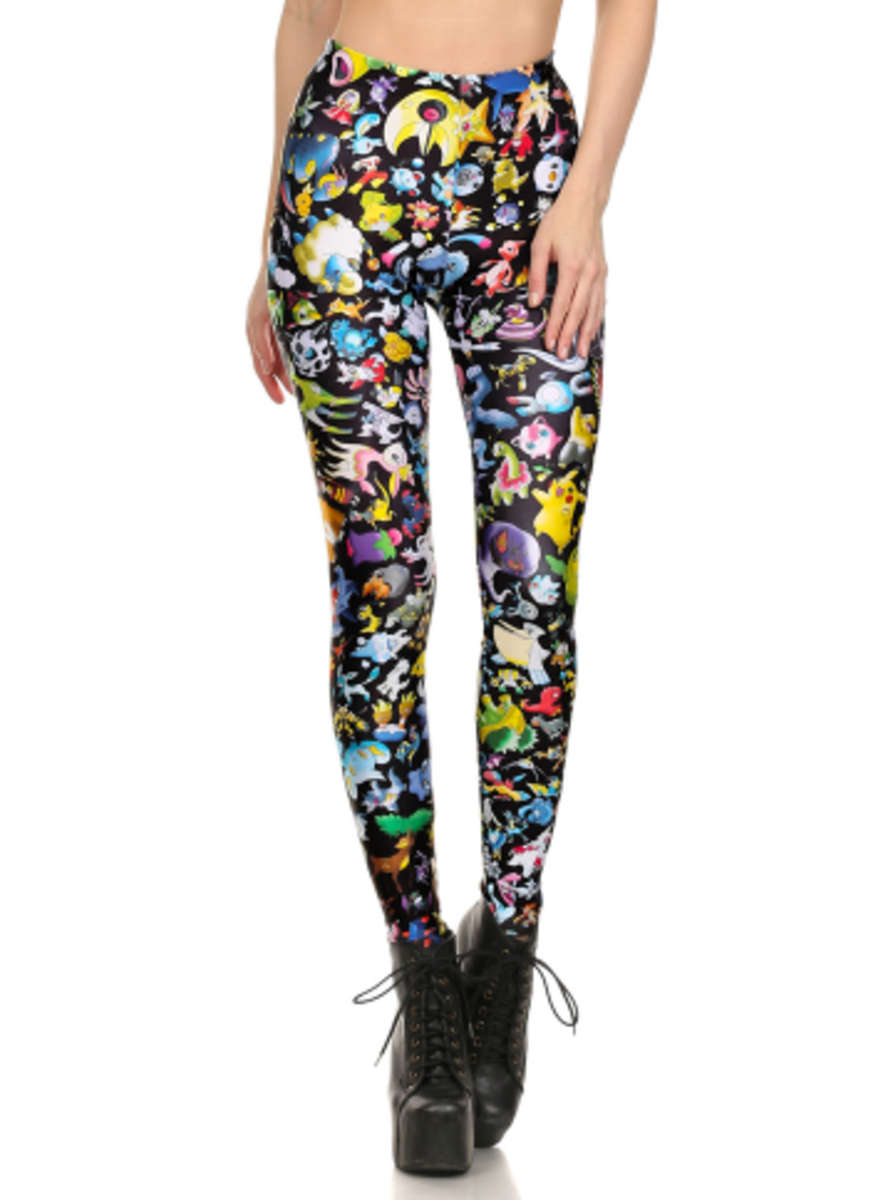 "Available at INKEDSHOP.COM: Women's ""Pokemon"" Leggings by Poprageous"