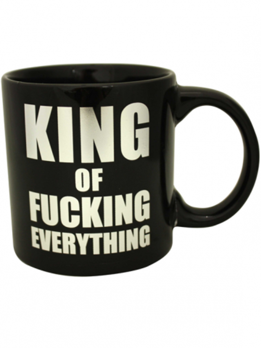 "Available at INKEDSHOP.COM: ""King of Fucking Everything"" Giant Mug"