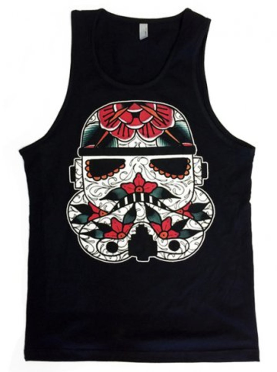 "Available at INKEDSHOP.COM: Men's ""Stormtrooper"" Tank by Mindzai Creative"