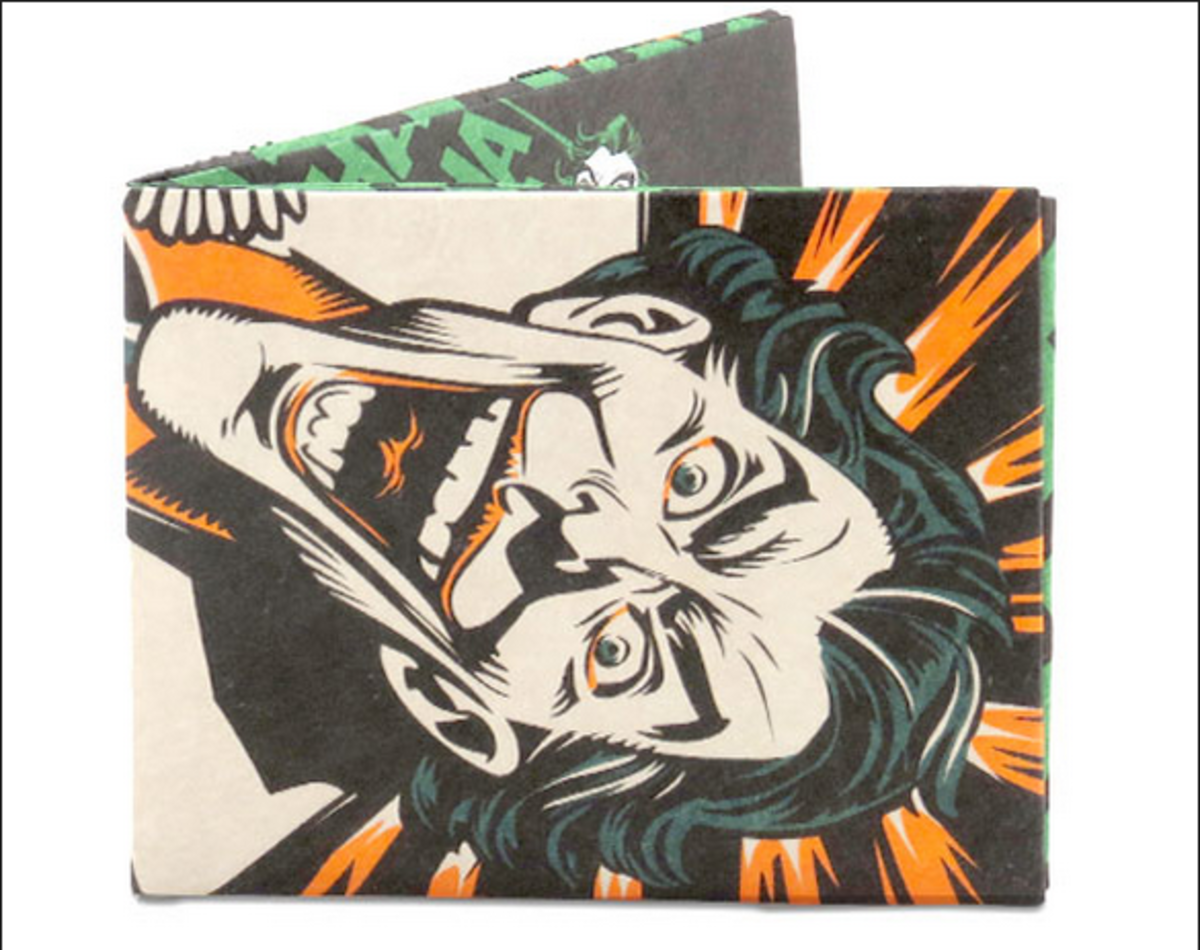 Joker's Last Laugh Wallet available in the InkedShop.