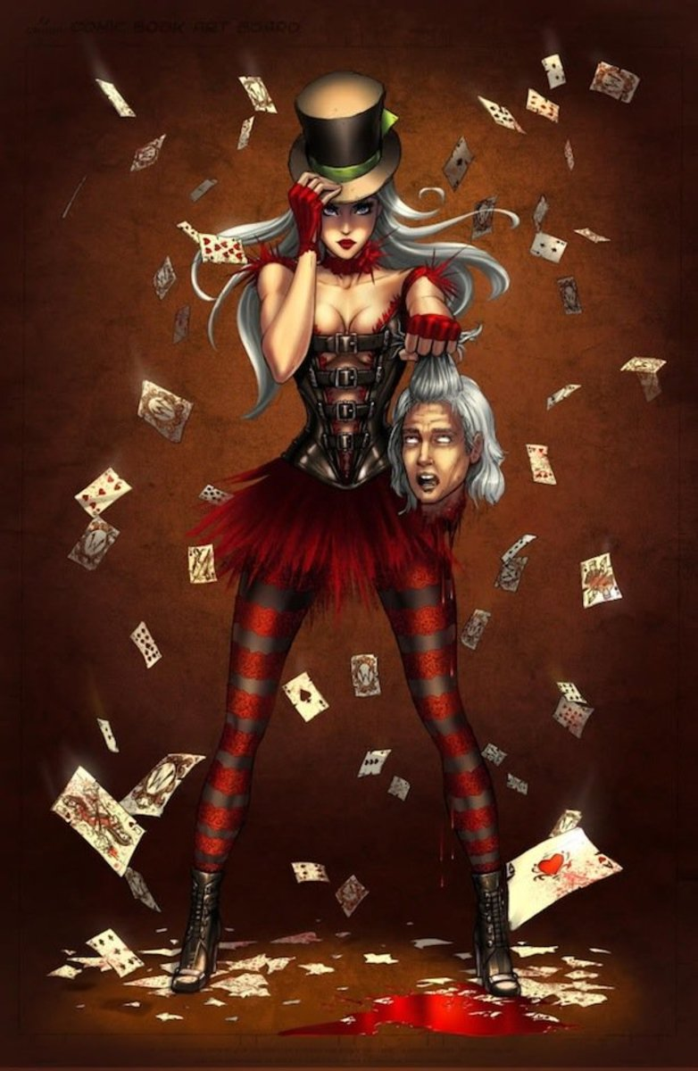 McTeigue's and Roth's character design for Zenescope's Wonderland.