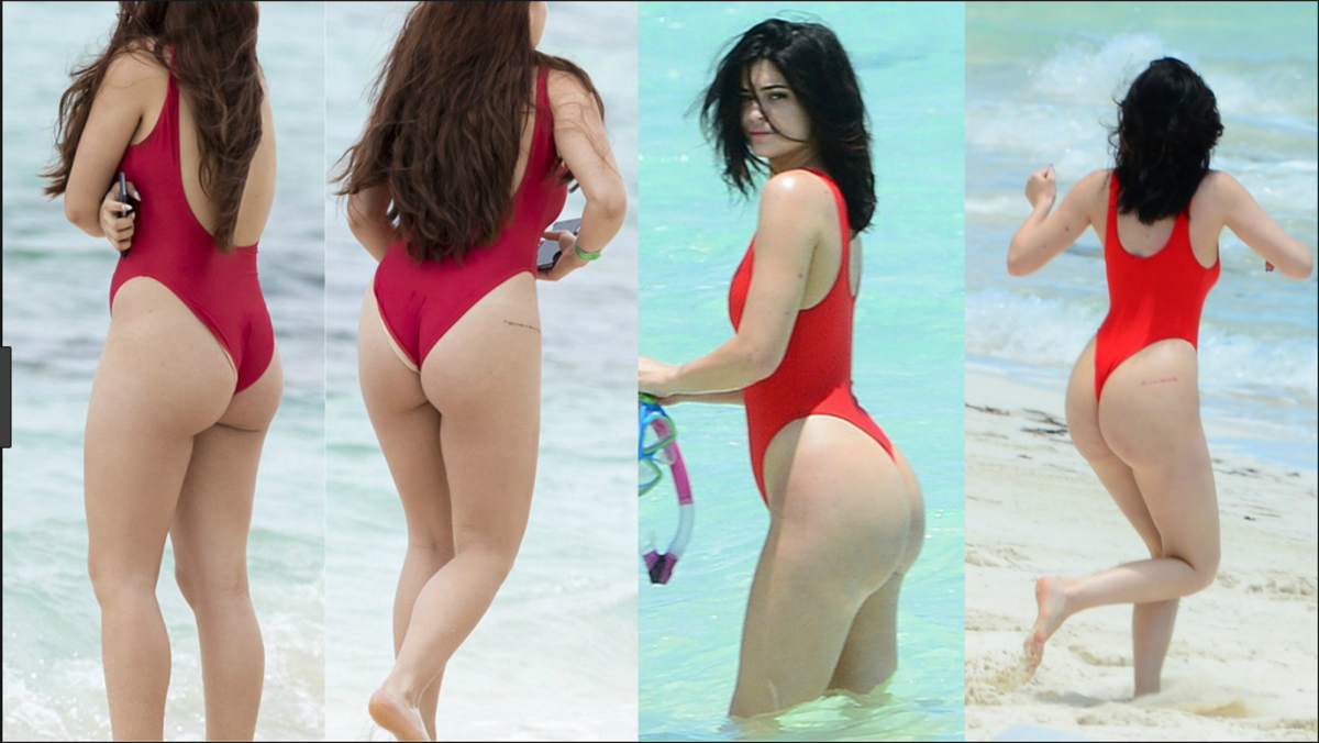 Kylie Jenner - Who cares what it says, that butt is bangin!