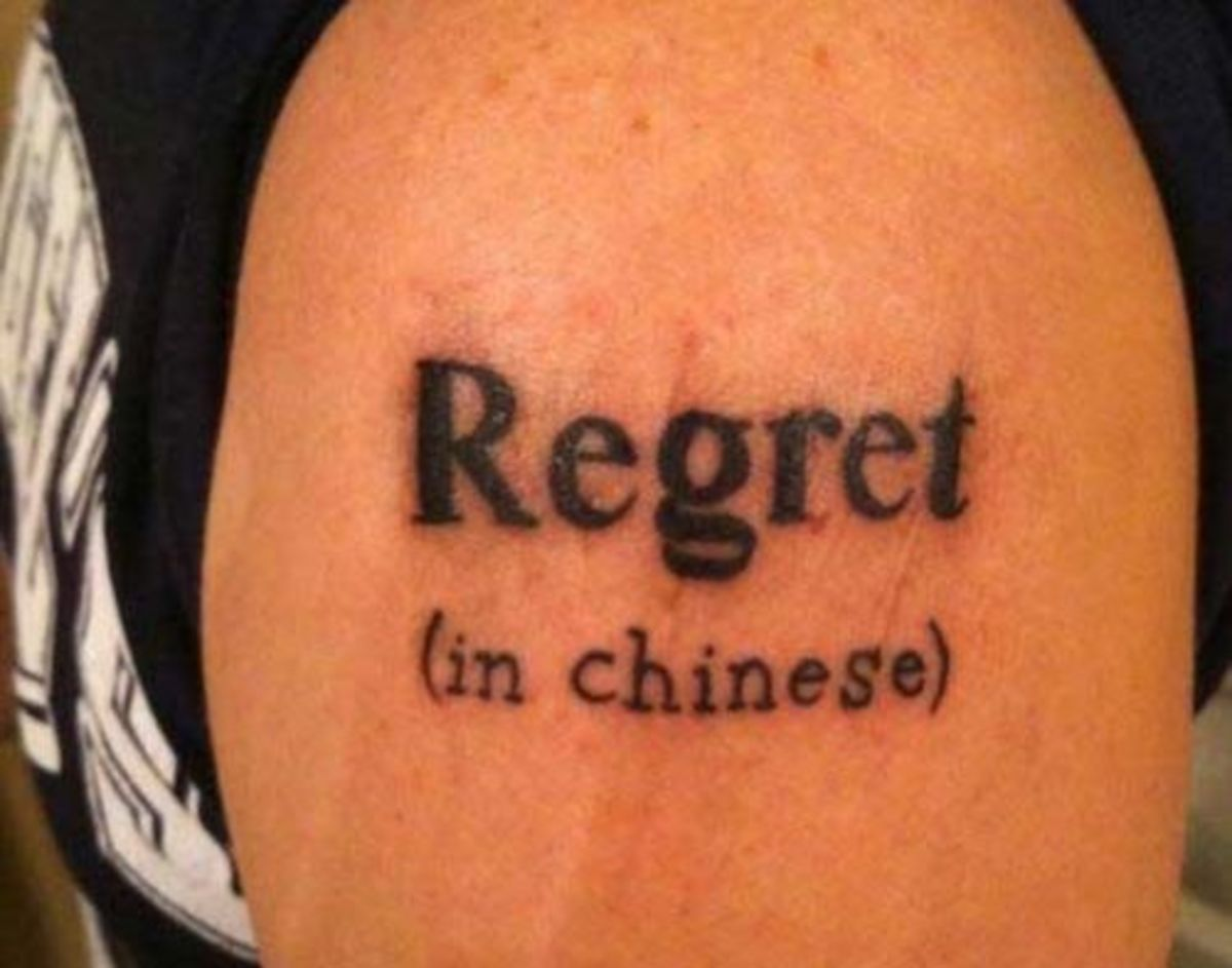 No ragrets tattoo, no regrets tattoo, tattoo regrets, tribal tattoos, asian character tattoo, name tattoo, star tattoos