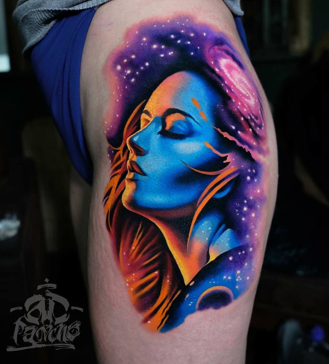 Color tattoo art by Alex Pancho