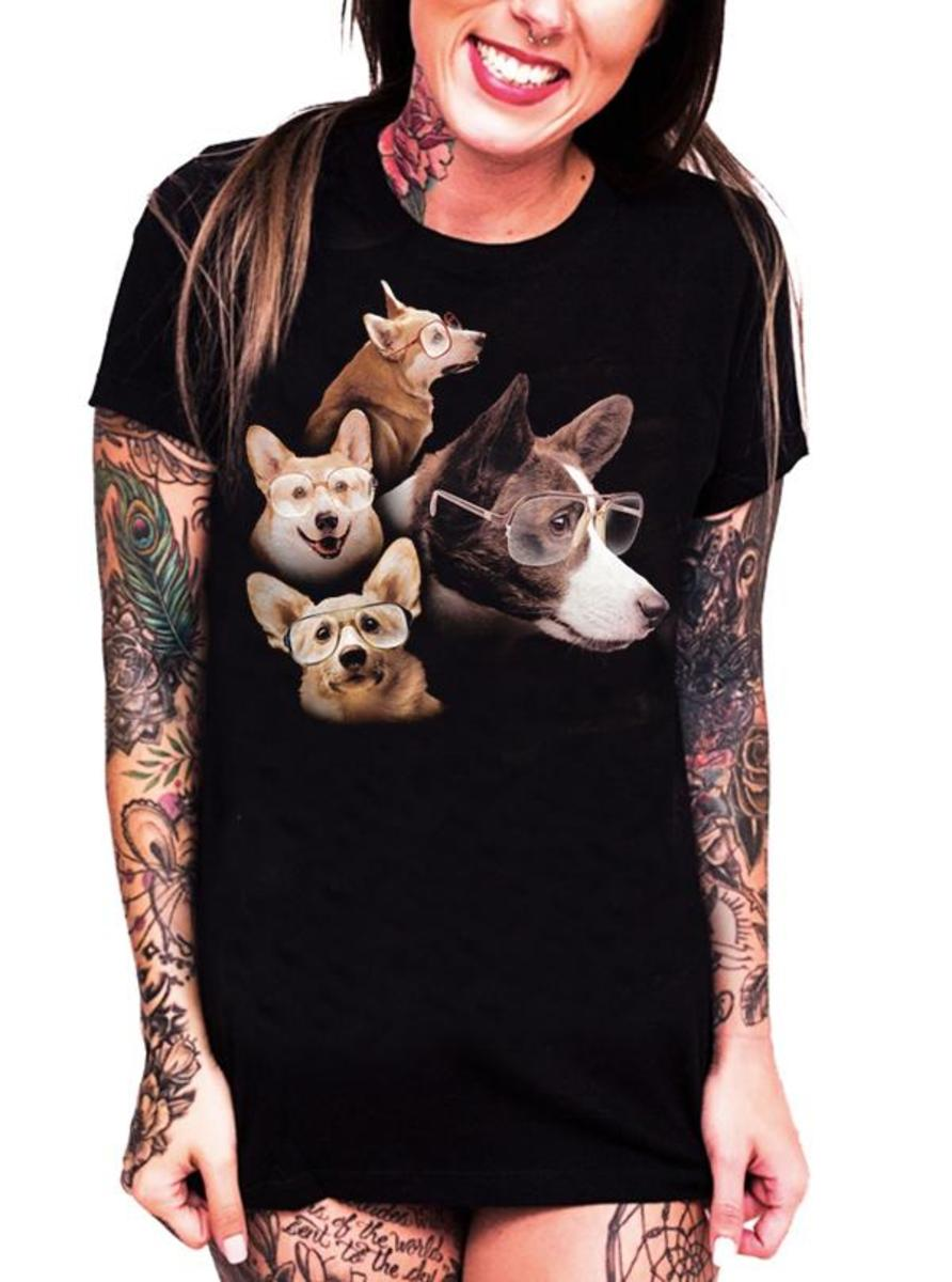 The Corgi Girls Tee by Goodie Two Sleeves