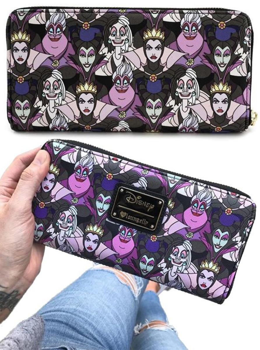 Disney Villains Print Wallet by Loungefly