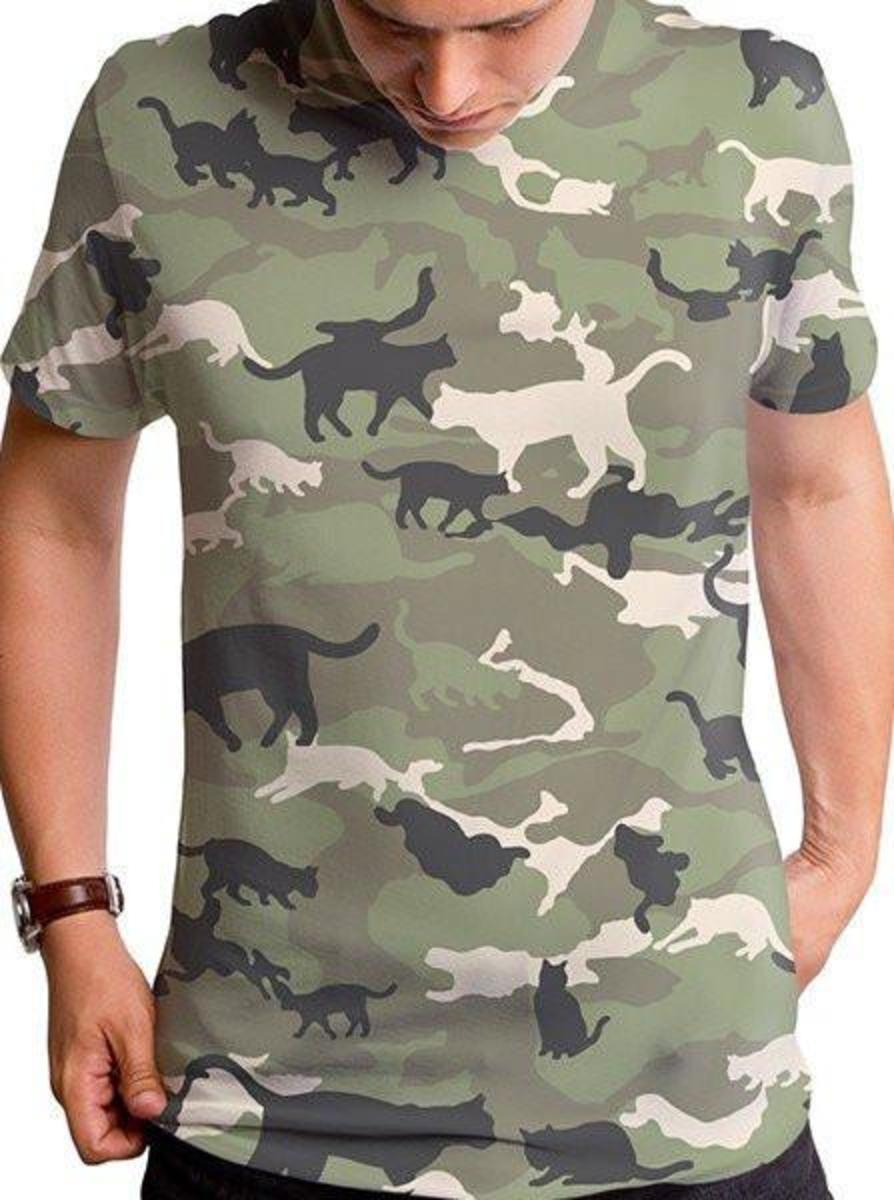 "MEN'S ""CATMOUFLAGE"" TEE BY GOODIE TWO SLEEVES"