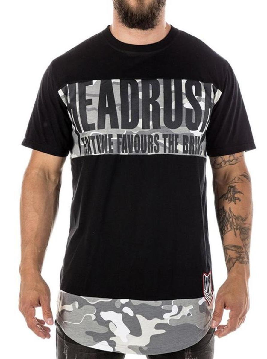 "MEN'S ""SLEEPWALKER"" ELONGATED TEE BY HEADRUSH BRAND"