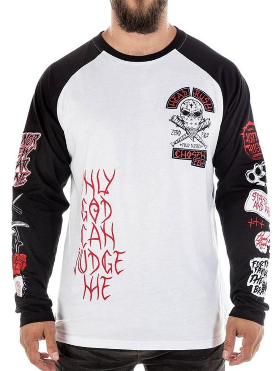 "MEN'S ""ULTIMATE CHAOS"" RAGLAN TEE BY HEADRUSH BRAND"