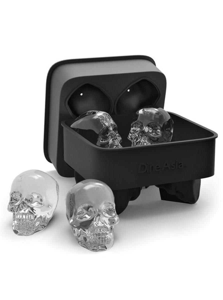 """3D SKULL"" SILICONE ICE CUBE MOLD TRAY"