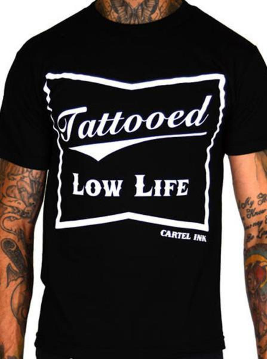 "MEN'S ""TATTOOED LOW LIFE"" TEE BY CARTEL INK"