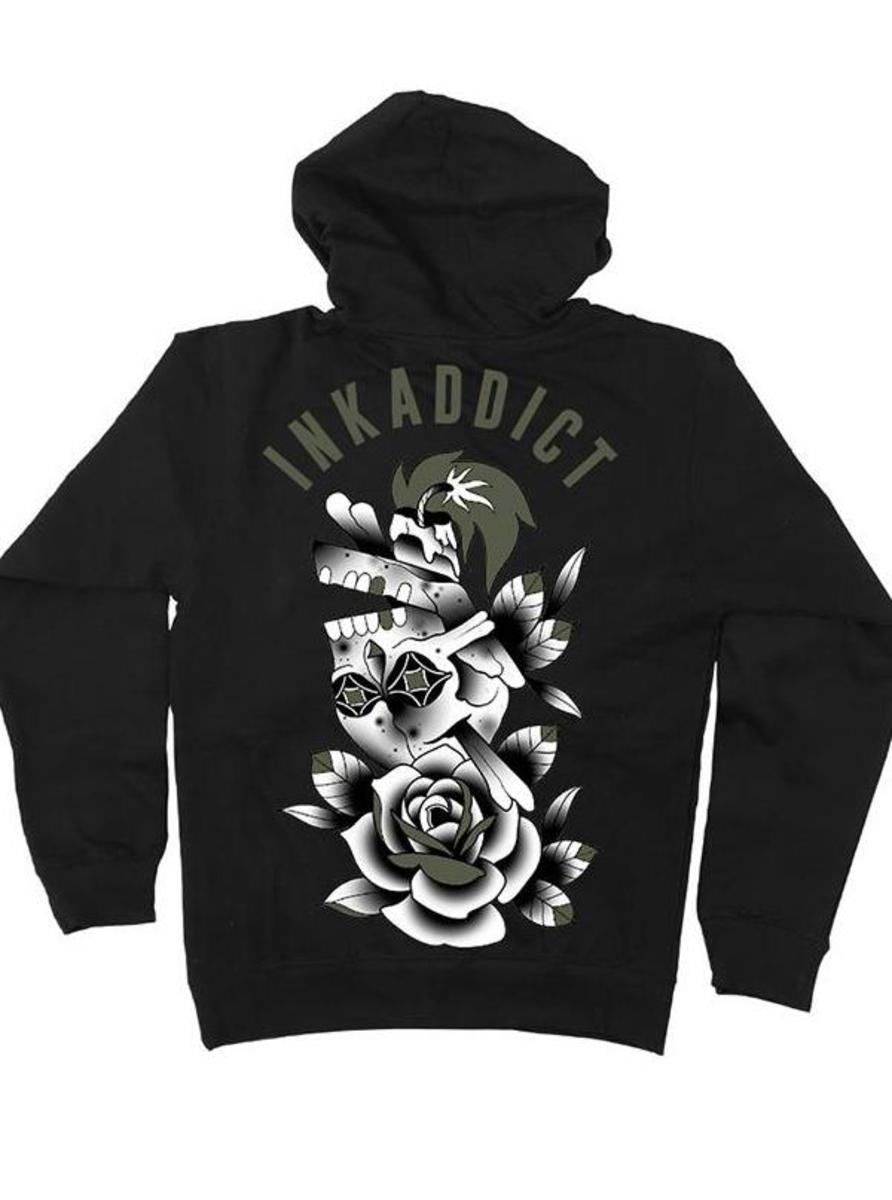 "MEN'S ""CAMPBELL SKULL"" HOODIE BY INKADDICT"