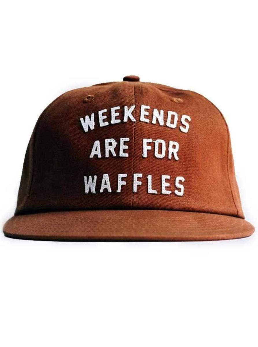 """WEEKENDS ARE FOR WAFFLES"" STRAPBACK HAT BY PYKNIC"