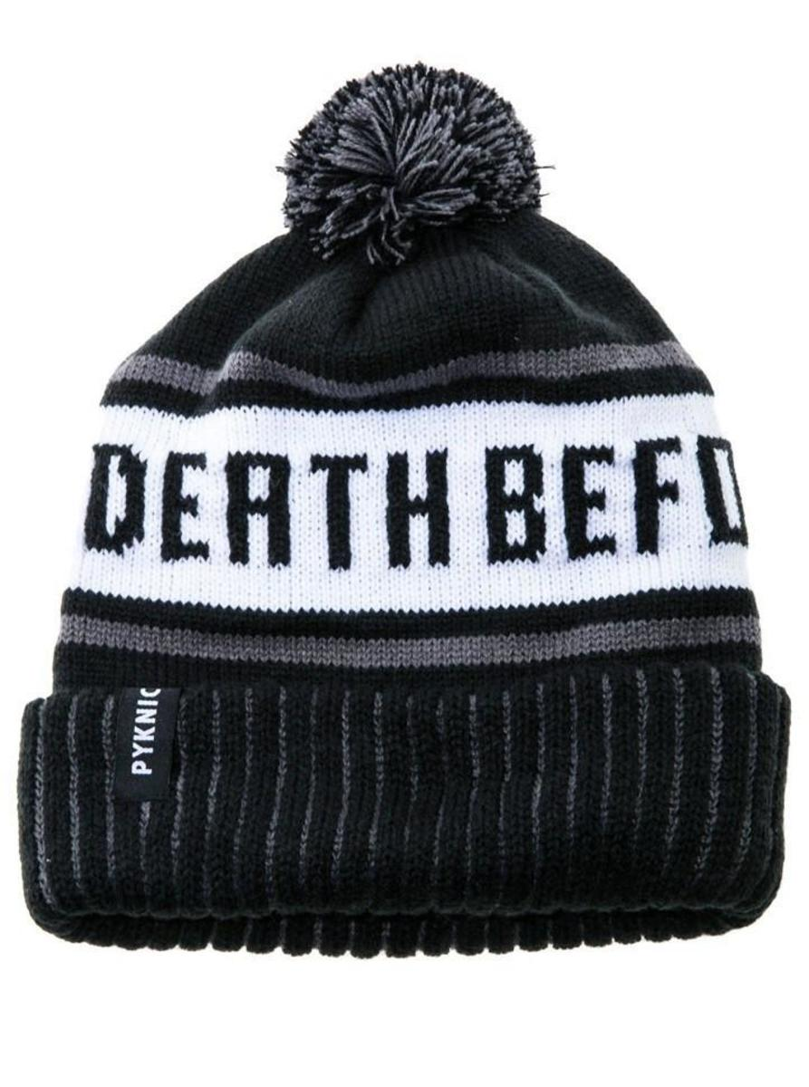 DEATH BEFORE DECAF BEANIE BY PYKNIC