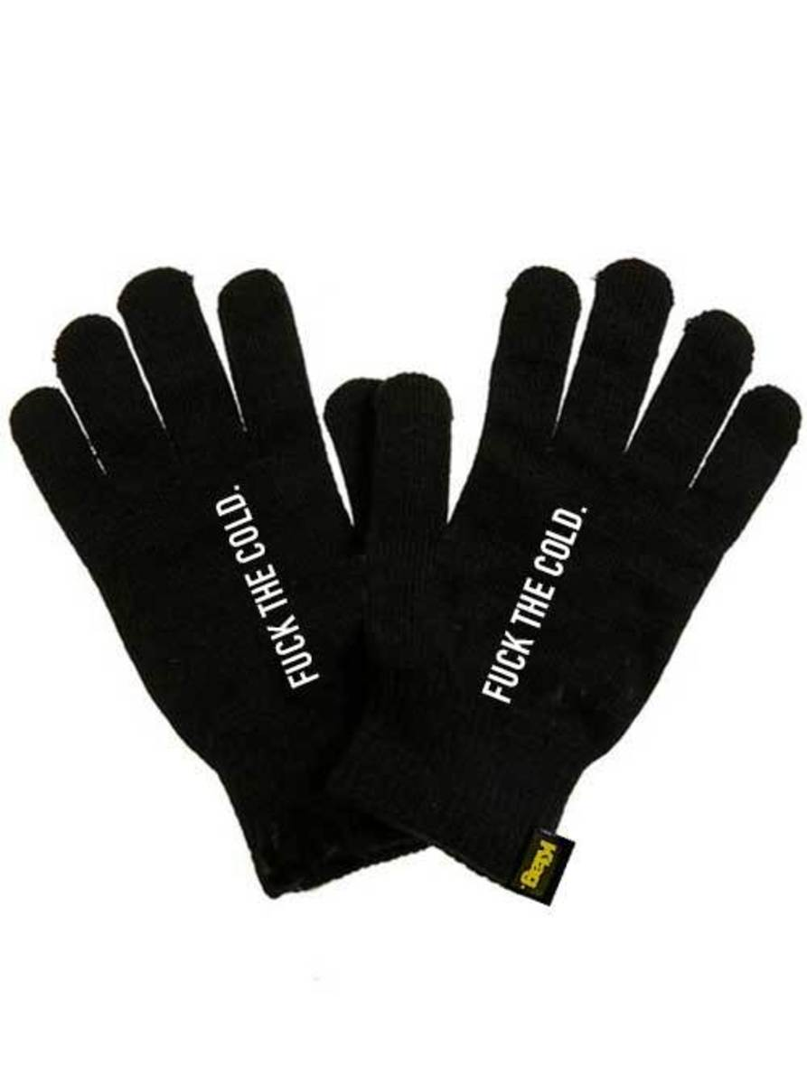 """UNISEX """"FUCK THE COLD"""" GLOVES BY KTAG"""