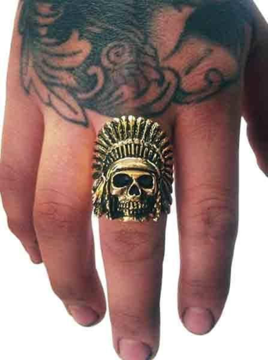 """INDIAN CHIEF"" RING BY HAN CHOLO"