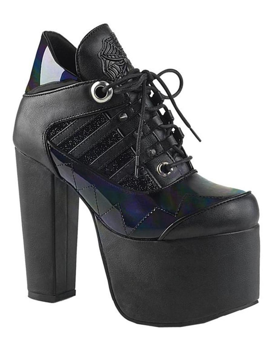 "WOMEN'S ""TORMENT 216"" HOLOGRAM BOOTS BY DEMONIA"