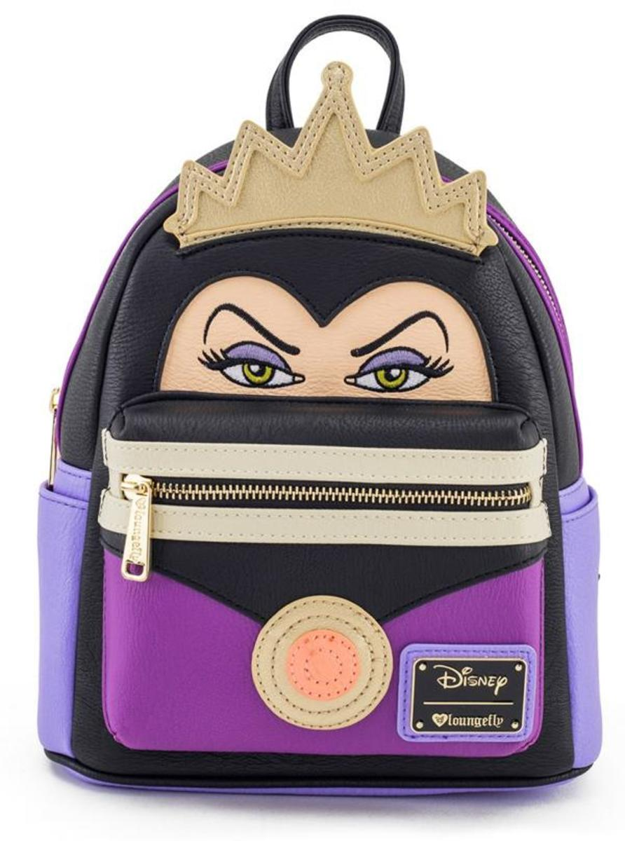 """EVIL QUEEN"" MINI FAUX LEATHER BACKPACK BY LOUNGEFLY"