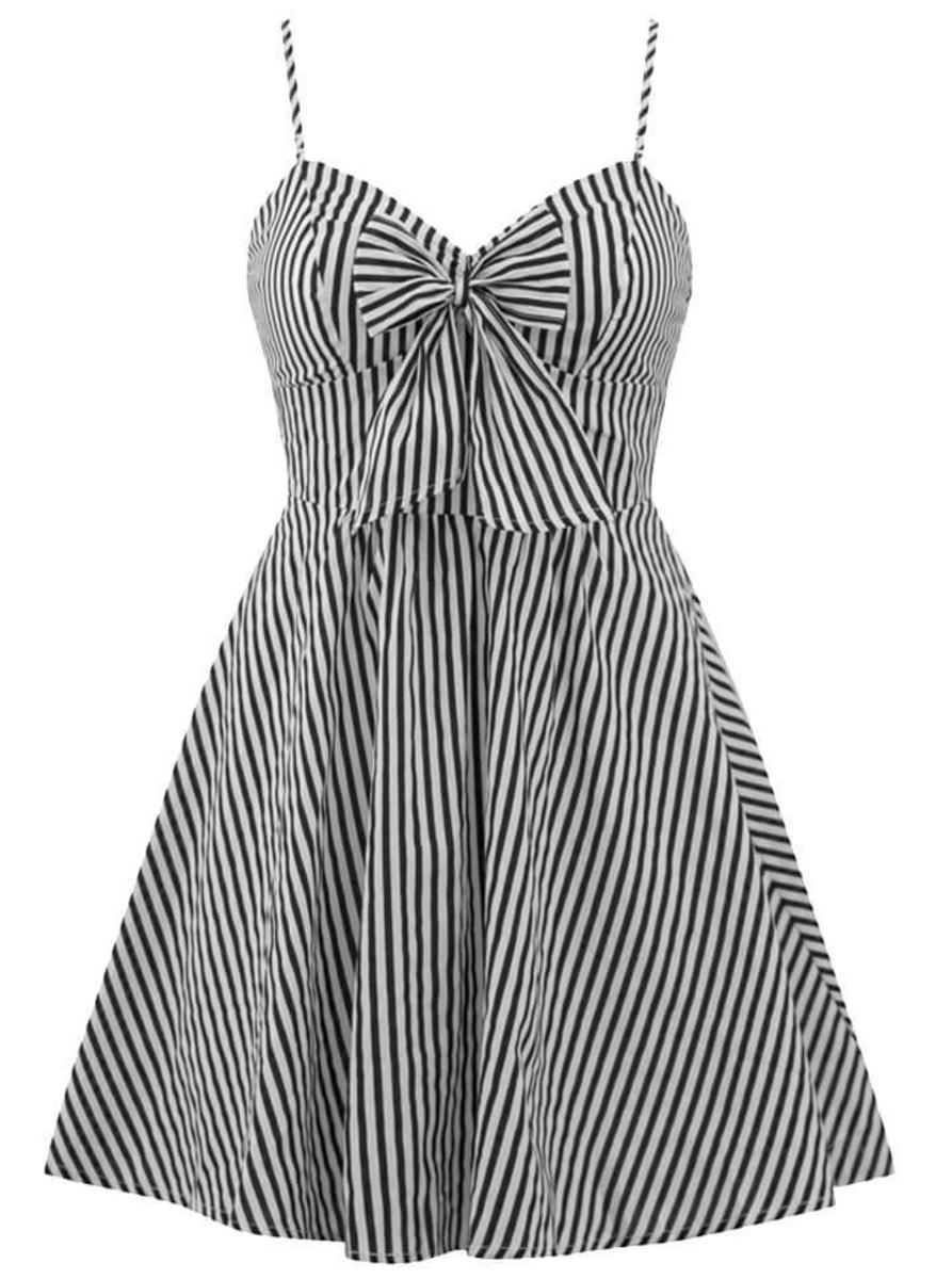 "WOMEN'S ""RETRO DOLL"" STRIPED DRESS BY DOUBLE TROUBLE APPAREL"