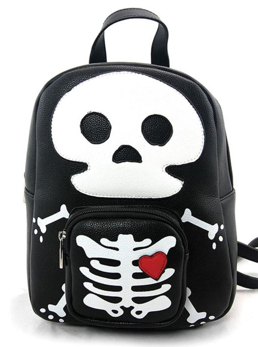 """SKELETON MAN"" MINI BACKPACK"