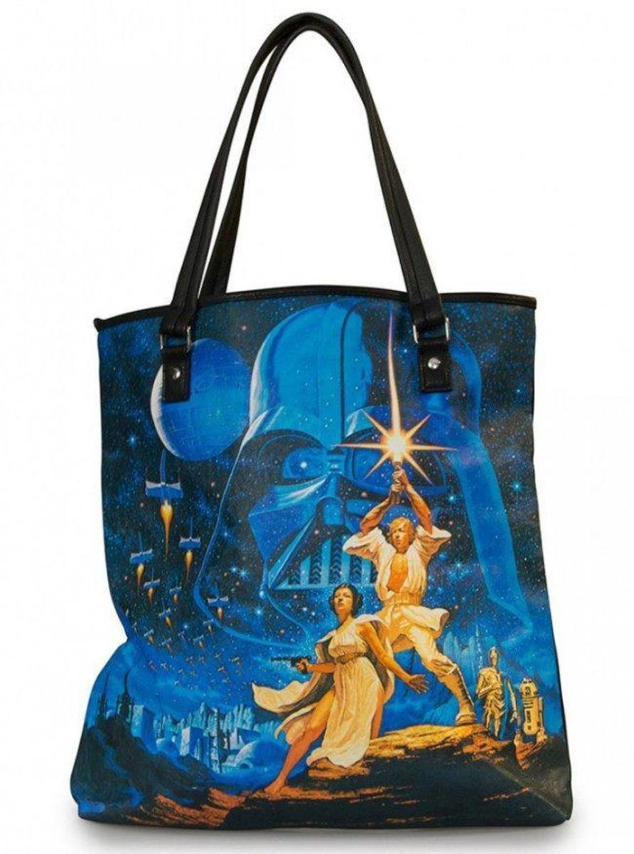 """STAR WARS LUKE & LEAH"" TOTE BAG BY LOUNGEFLY"