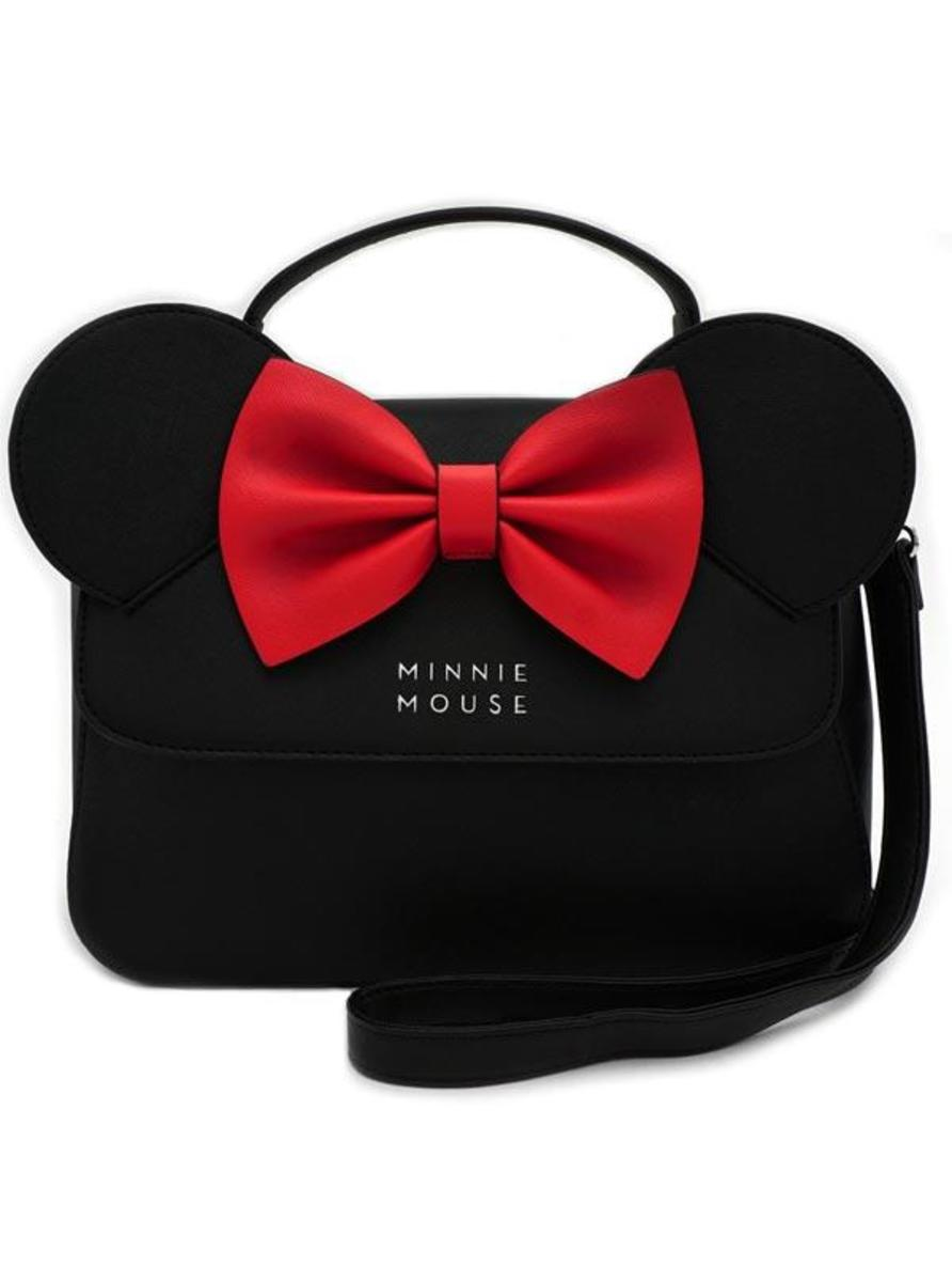 """MINNIE EARS"" CROSSBODY BAG BY LOUNGEFLY"