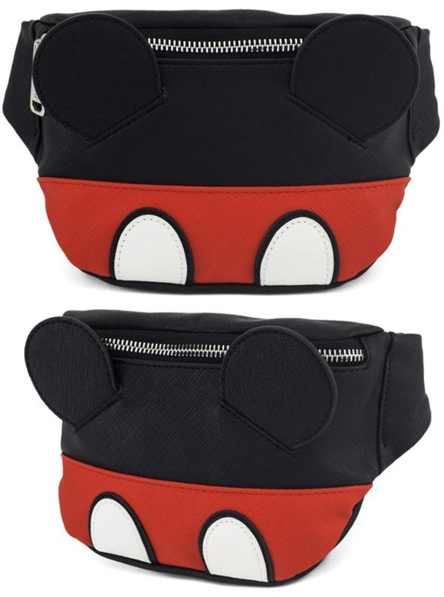 """MICKEY"" FAUX LEATHER FANNY PACK BY LOUNGEFLY"