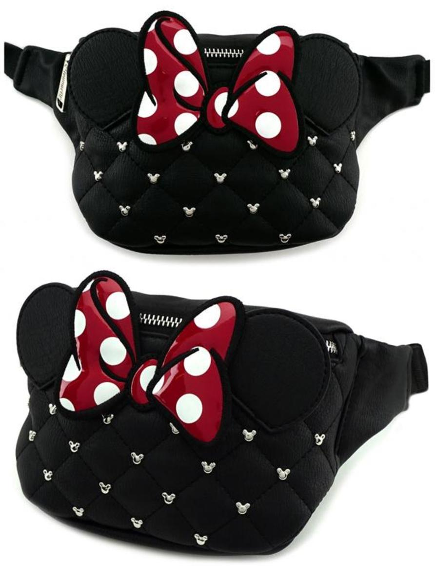 """MINNIE"" FAUX LEATHER FANNY PACK BY LOUNGEFLY"