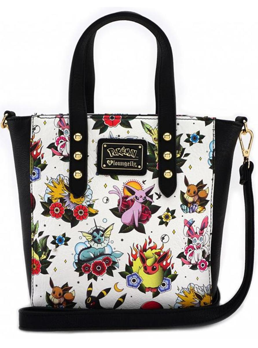 """POKÉMON EEVEE EVOLUTION TATTOO FLASH"" TOTE BAG BY LOUNGEFLY"