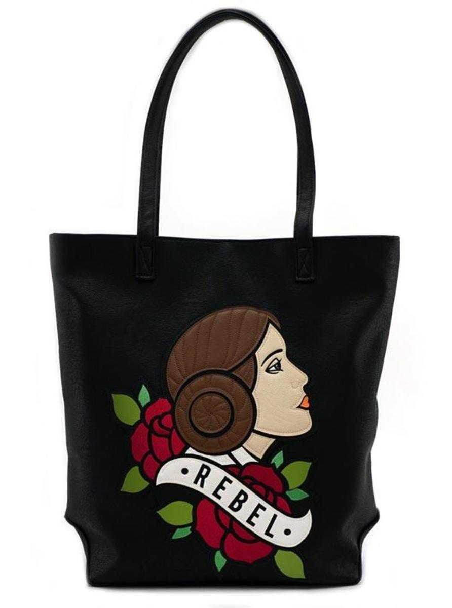 """STAR WARS: PRINCESS LEIA REBEL"" TATTOO FLASH TOTE BY LOUNGEFLY"