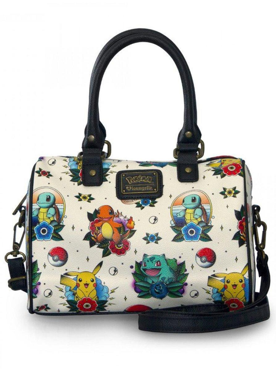 """POKÉMON TATTOO FLASH PRINT"" DUFFLE BAG BY LOUNGE FLY"
