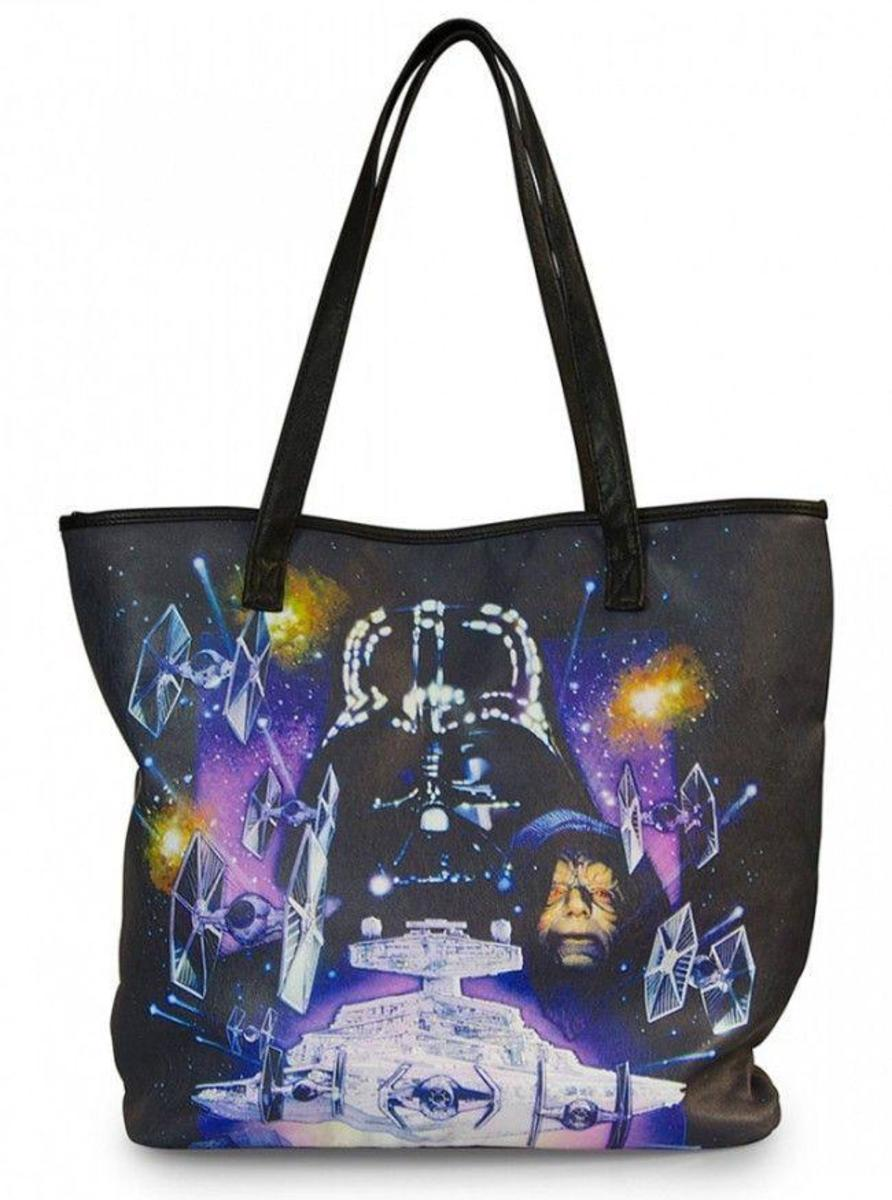"""STAR WARS SPACE SCENE PHOTO REAL"" TOTE BAG BY LOUNGEFLY"