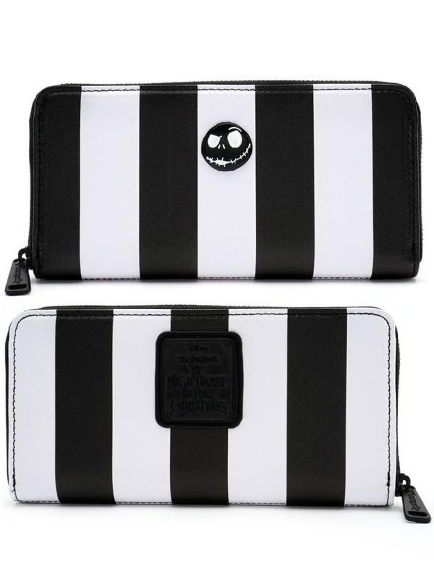 """NIGHTMARE BEFORE CHRISTMAS"" STRIPED WALLET BY LOUNGEFLY"