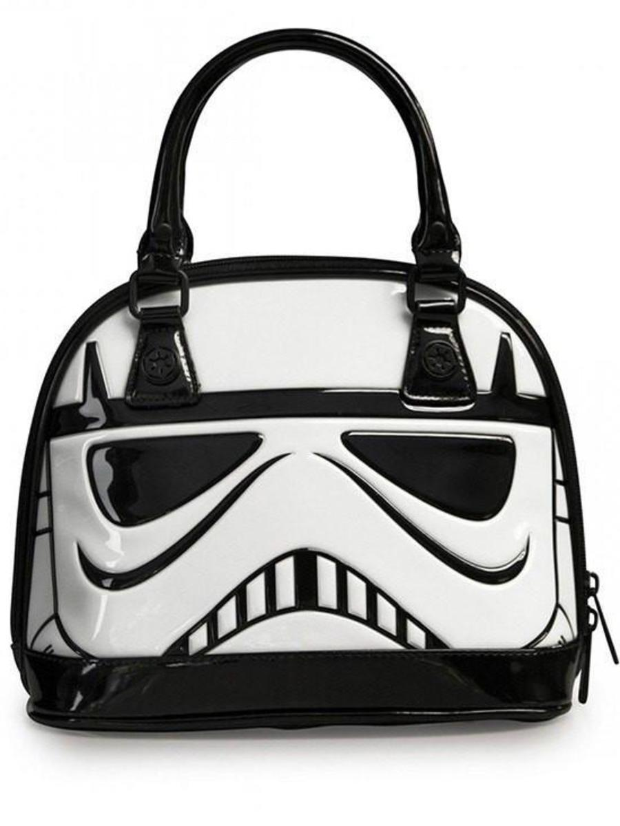 """STAR WARS STORMTROOPER"" PATENT DOME BAG BY LOUNGEFLY"