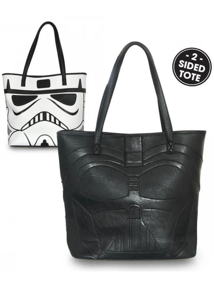 """DARTH VADER/STORMTROOPER"" 2-SIDED TOTE BY LOUNGEFLY"