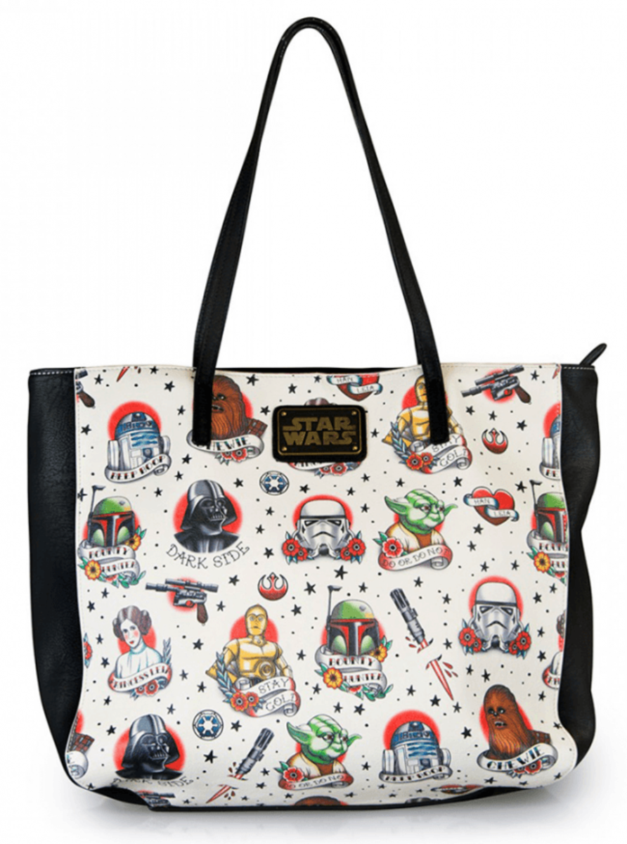 """STAR WARS TATTOO FLASH"" TOTE BAG BY LOUNGEFLY"