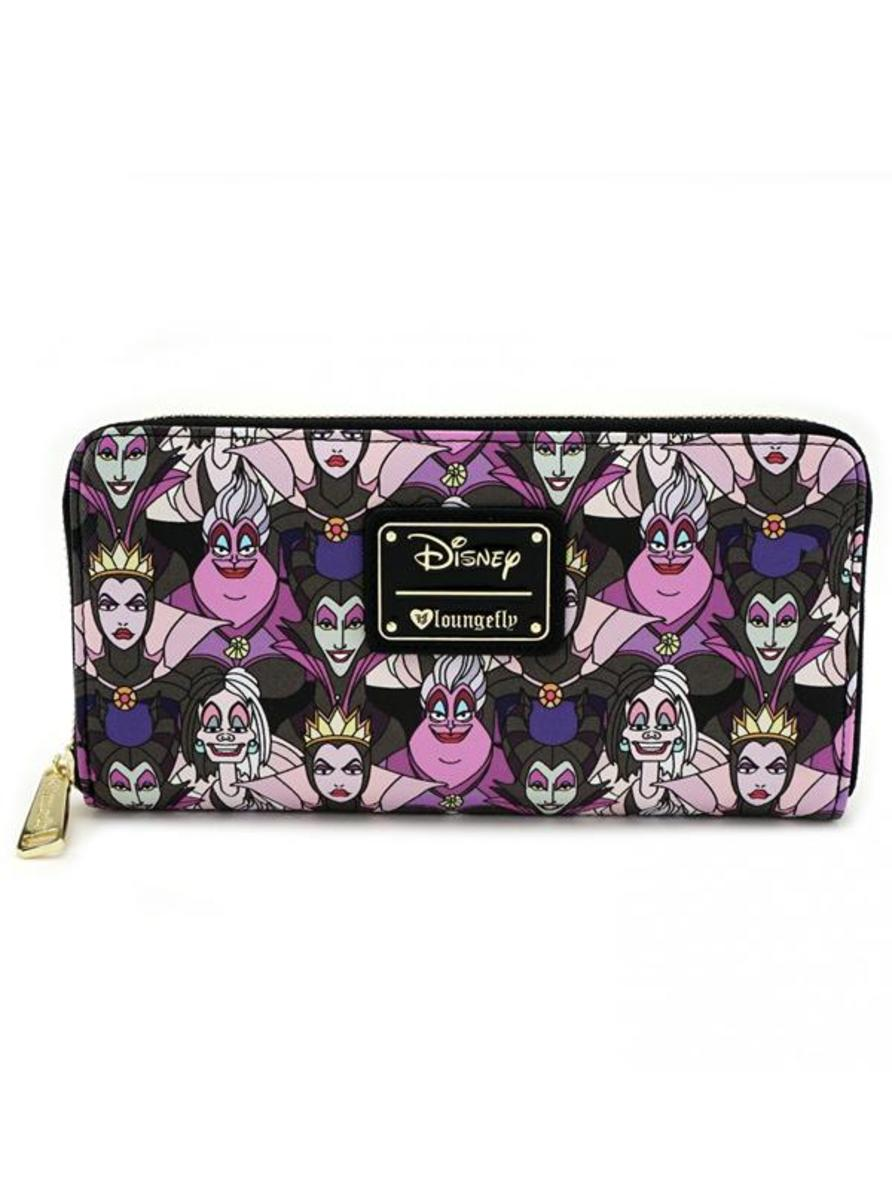 """DISNEY VILLAIN PRINT"" WALLET BY LOUNGEFLY"