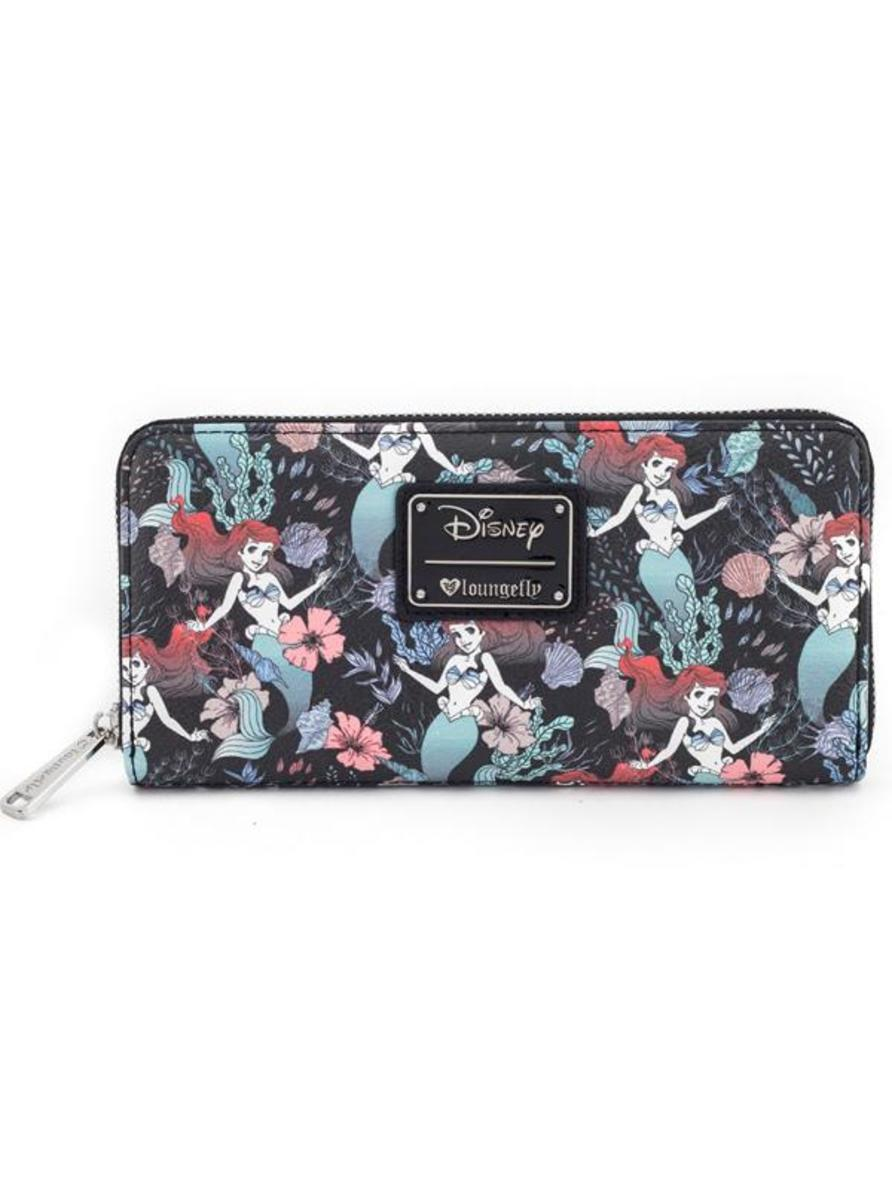 """ARIEL FLORAL PRINT"" WALLET BY LOUNGEFLY"