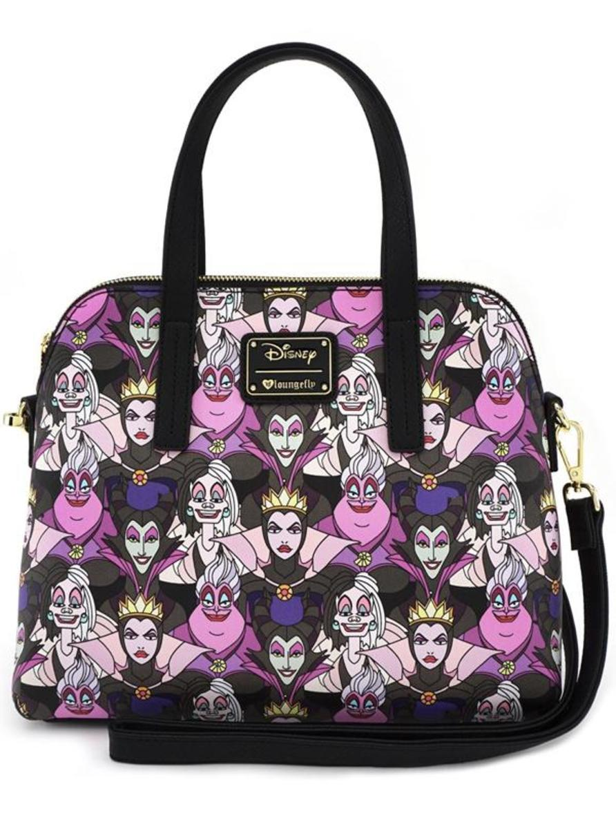 """DISNEY VILLAIN PRINT"" BAG BY LOUNGEFLY"