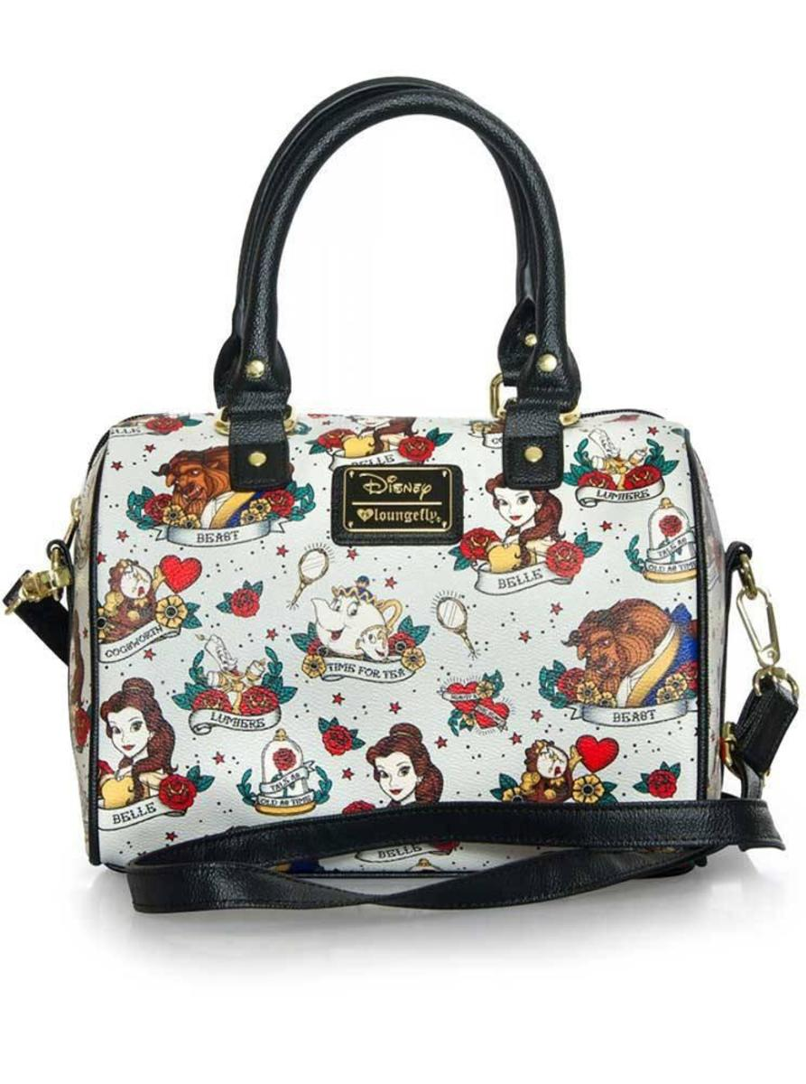 """TATTOO FLASH PRINT"" TOTE BAG BY LOUNGEFLY X BEAUTY & THE BEAST"
