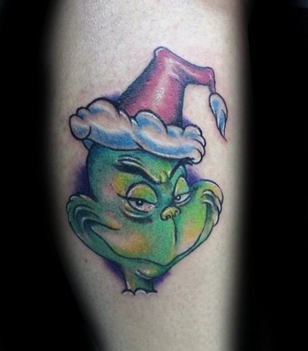 awesome-grinch-tattoos-for-men-on-leg