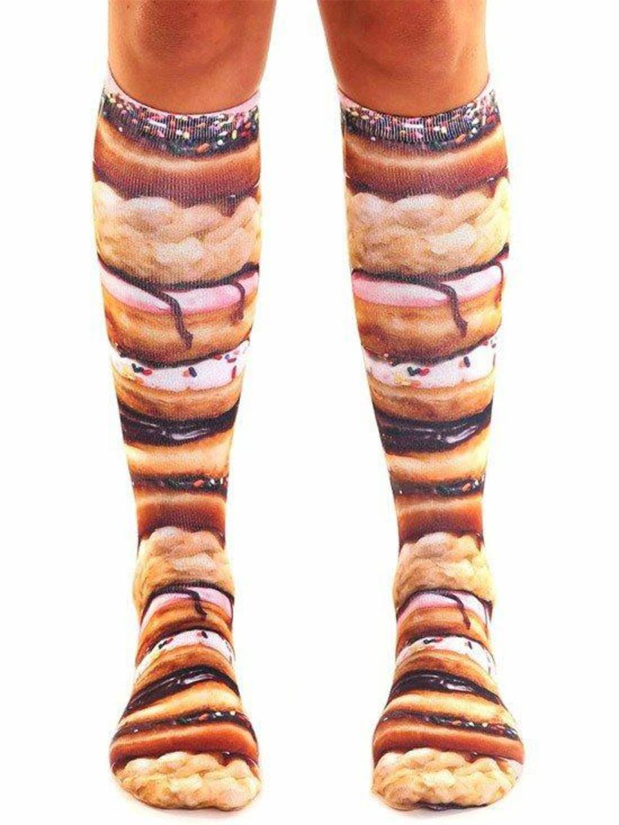 """STACKED DONUTS"" KNEE HIGH SOCKS"