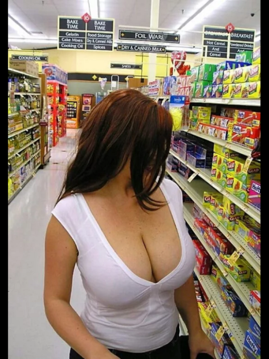 After she buys the sandwich bags, she's heading over to the bra aisle.