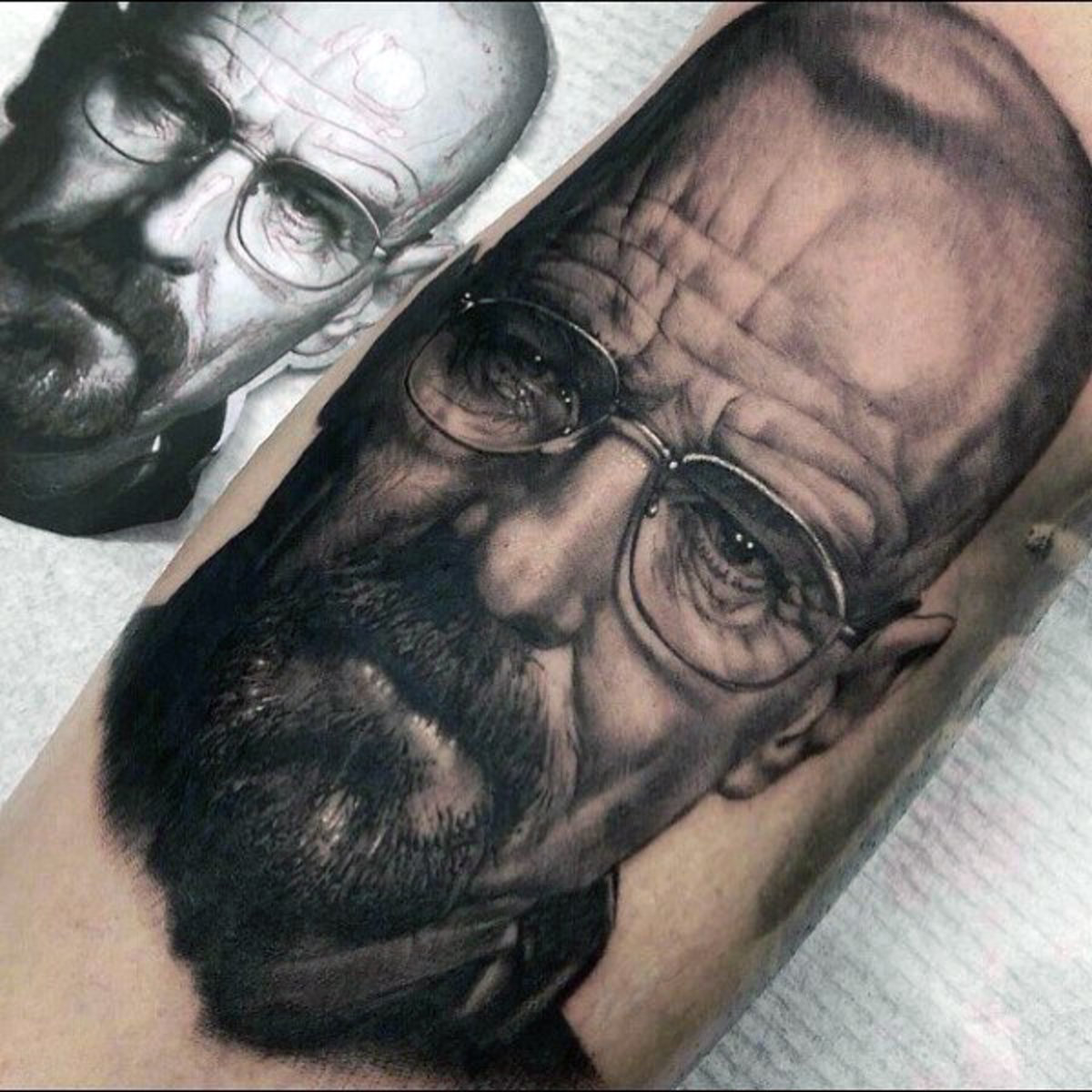 realistic-3d-mens-breaking-bad-walter-white-arm-tattoos