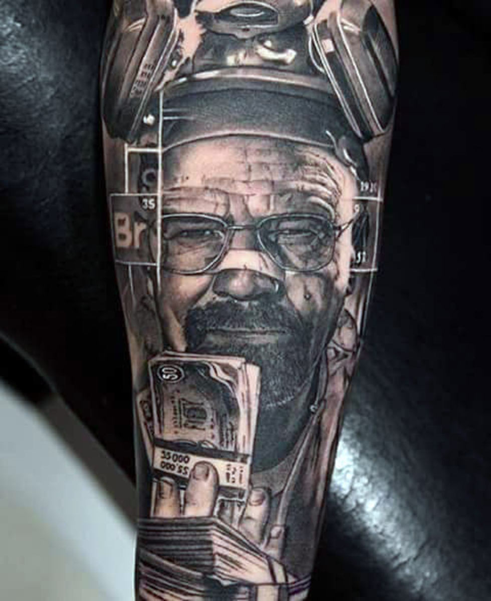 awesome-breaking-bad-themed-sleeve-tattoo-on-guy