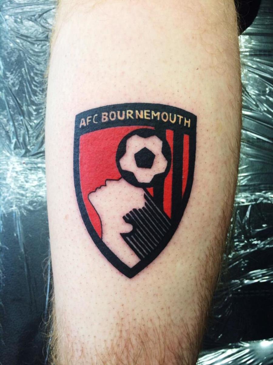 Bournemouth has the most '80s shield of all.