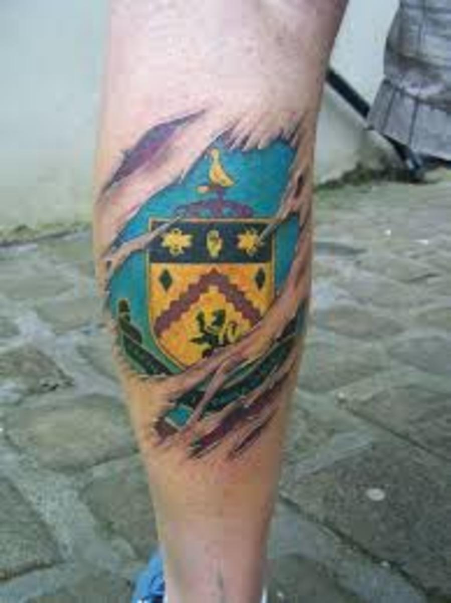 Not the best Burnley tattoo... but Burnley's not the best team, either.
