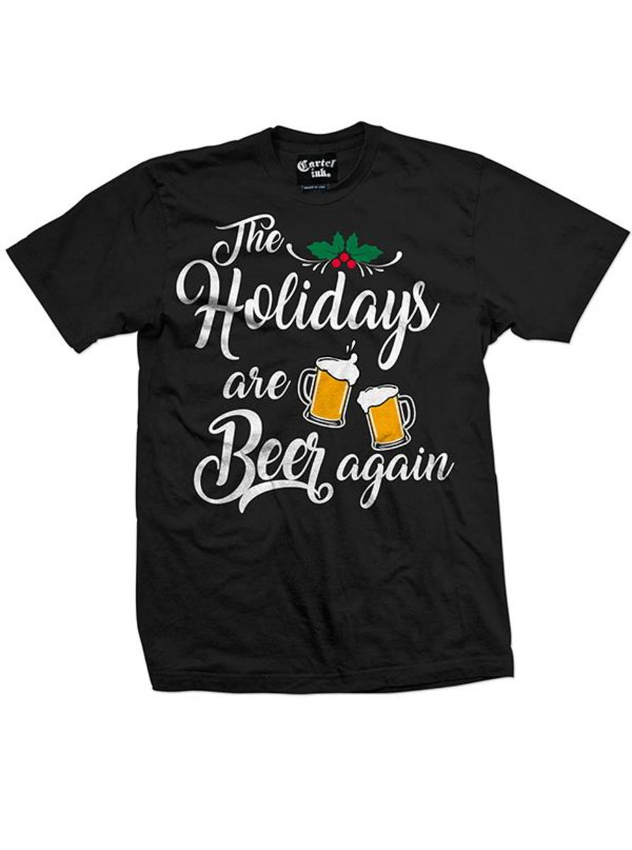 "MEN'S ""THE HOLIDAYS ARE BEER AGAIN"" TEE BY CARTEL INK"