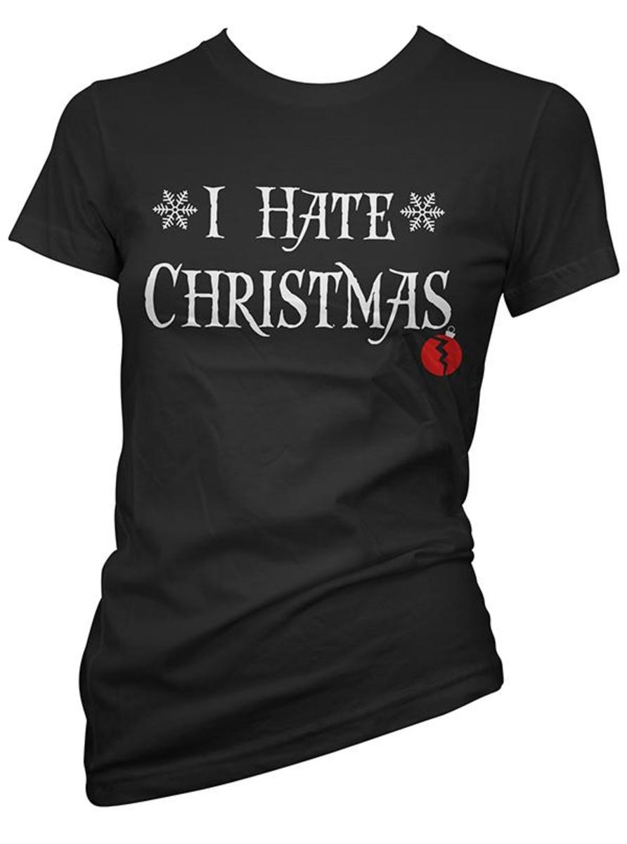"WOMEN'S ""I HATE CHRISTMAS"" TEE BY CARTEL INK"