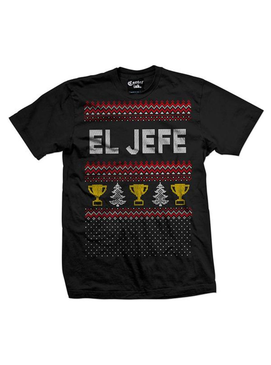 "MEN'S ""EL JEFE"" UGLY CHRISTMAS SWEATER TEE BY CARTEL INK"